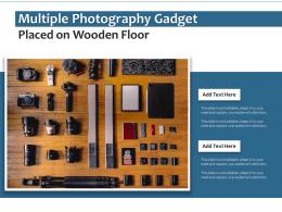 Multiple Photography Gadget Placed On Wooden Floor