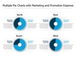 Multiple Pie Charts With Marketing And Promotion Expense