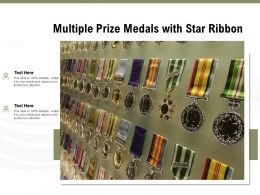 Multiple Prize Medals With Star Ribbon