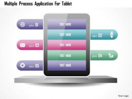 Multiple Process Application For Tablet Powerpoint Templates