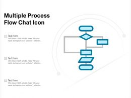 Multiple Process Flow Chat Icon