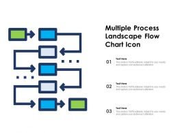 Multiple Process Landscape Flow Chart Icon