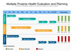 Multiple Projects Health Evaluation And Planning
