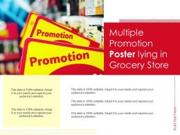 Multiple Promotion Poster Lying In Grocery Store