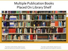 Multiple Publication Books Placed On Library Shelf