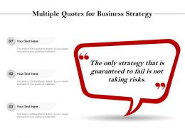 Multiple Quotes For Business Strategy