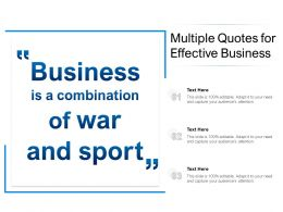 Multiple Quotes For Effective Business