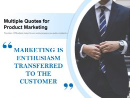 Multiple Quotes For Product Marketing