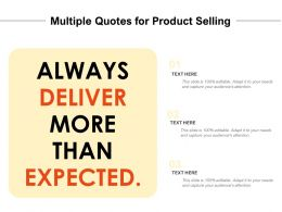 Multiple Quotes For Product Selling