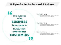 Multiple Quotes For Successful Business
