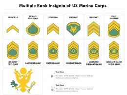 Multiple Rank Insignia Of US Marine Corps