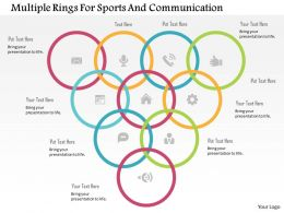 multiple_rings_for_sports_and_communication_flat_powerpoint_design_Slide01
