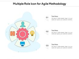 Multiple Role Icon For Agile Methodology