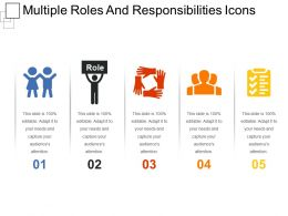 Multiple Roles And Responsibilities Icons Ppt Example File