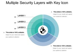 Multiple Security Layers With Key Icon