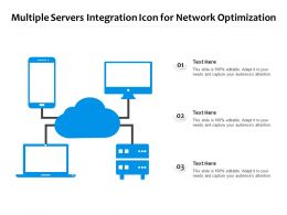 Multiple Servers Integration Icon For Network Optimization