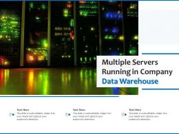 Multiple Servers Running In Company Data Warehouse