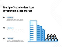 Multiple Shareholders Icon Investing In Stock Market