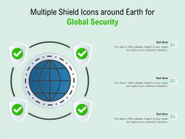 Multiple Shield Icons Around Earth For Global Security