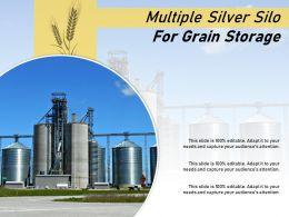 Multiple Silver Silo For Grain Storage