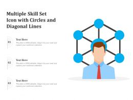 Multiple Skill Set Icon With Circles And Diagonal Lines