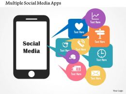 Multiple Social Media Apps Flat Powerpoint Design