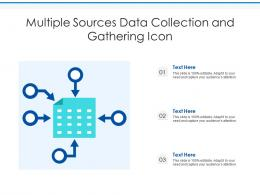 Multiple Sources Data Collection And Gathering Icon
