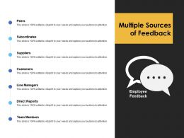 Multiple Sources Of Feedback Line Managers Ppt Powerpoint Presentation Ideas Deck