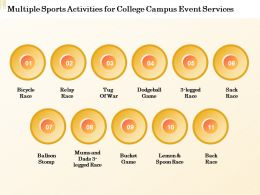 Multiple Sports Activities For College Campus Event Services Ppt Powerpoint Presentation
