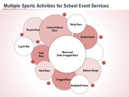 Multiple Sports Activities For School Event Services Ppt Powerpoint Presentation Slides Themes