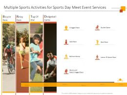 Multiple Sports Activities For Sports Day Meet Event Services Ppt Powerpoint Presentation Slide