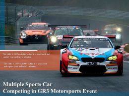 Multiple Sports Car Competing In Gr3 Motorsports Event