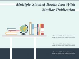 Multiple Stacked Books Icon With Similar Publication