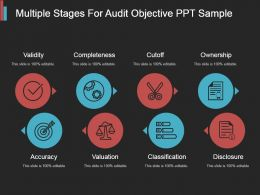 Multiple Stages For Audit Objective Ppt Sample