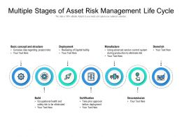 Multiple Stages Of Asset Risk Management Life Cycle