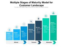 Multiple Stages Of Maturity Model For Customer Landscape