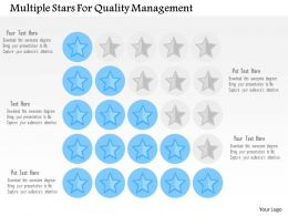 Multiple Stars For Quality Management Flat Powerpoint Design