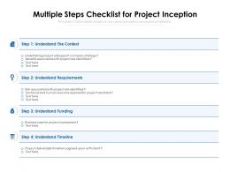 Multiple Steps Checklist For Project Inception
