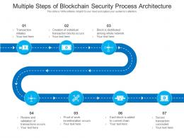 Multiple Steps Of Blockchain Security Process Architecture