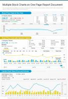 Multiple Stock Charts On One Page Report Document Presentation Infographic PPT PDF
