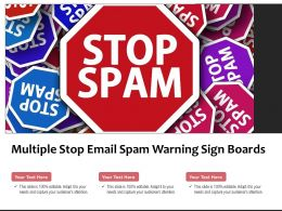 Multiple Stop Email Spam Warning Sign Boards
