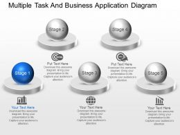 Multiple Task And Business Application Diagram Powerpoint Template Slide
