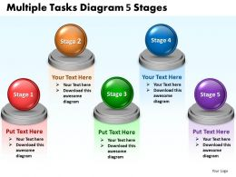Multiple Tasks Diagram 5 Stages 88