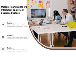 Multiple Team Managers Interaction On Current Business Strategy