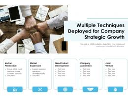 Multiple Techniques Deployed For Company Strategic Growth