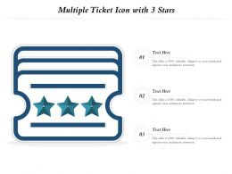 Multiple Ticket Icon With 3 Stars