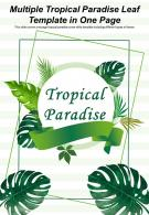 Multiple Tropical Paradise Leaf Template In One Page Presentation Report Infographic PPT PDF Document