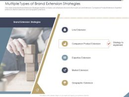 Multiple Types Of Brand Extension Strategies Line Ppt Powerpoint Presentation Styles Objects