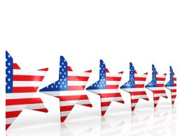 Multiple Us Flag Designed Stars In Line Stock Photo