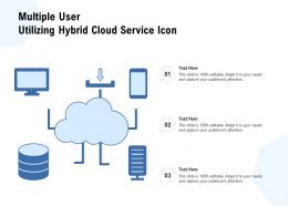 Multiple User Utilizing Hybrid Cloud Service Icon